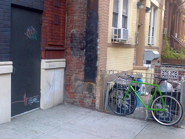 """The Black Door (Green Bike)"", ©Jeff Glovsky"